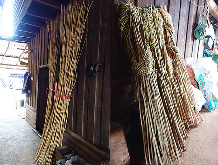 モン(Hmong)族の麻の茎干し_織り人(Orijin)