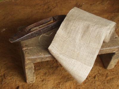 ベトナム黒モン(Hmong)族の麻布の織り