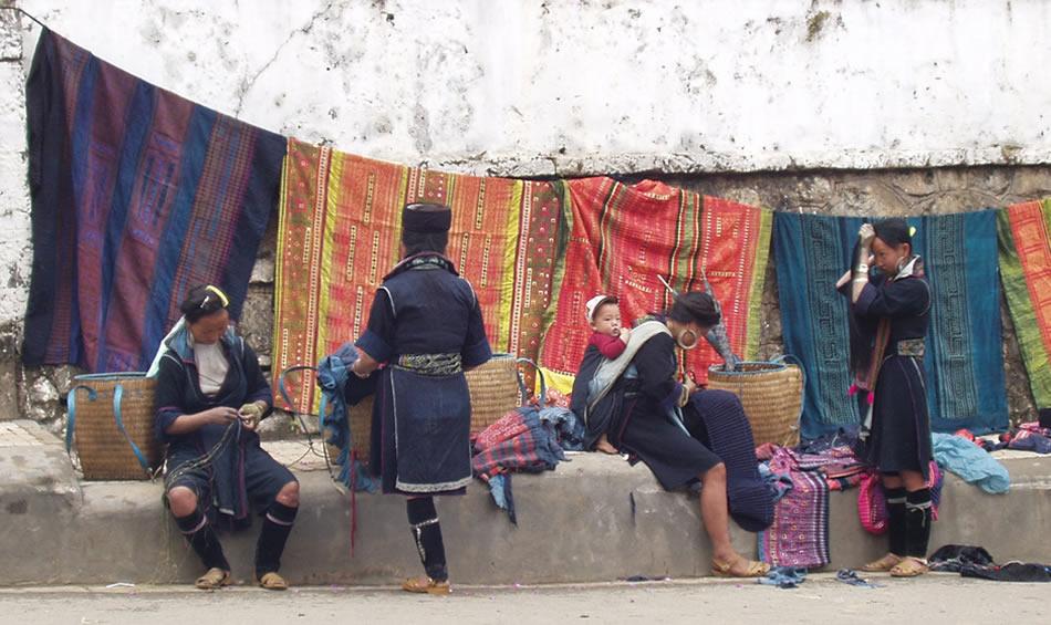 ベトナム黒モン(Hmong)族の麻糸づくり_織り人(Orijin)